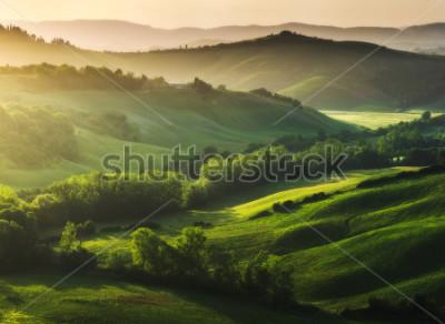 Фотообои Красиво освещенный пейзаж Тосканы