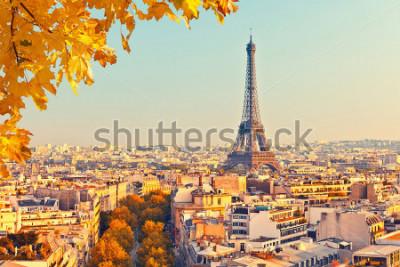 Фотообои Вид на Эйфелеву башню на закате, Париж, Франция