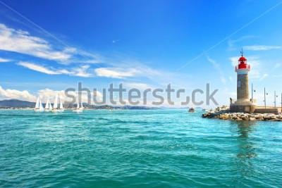 Фотообои Маяк Сен-Тропе. красивый средиземноморский пейзаж. Французская Ривьера, Лазурный берег, Франция