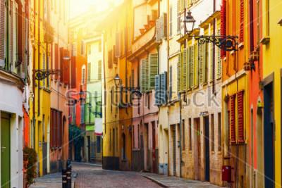 Фотообои Old colorful street in Parma, Emilia-Romagna, Italy