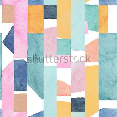 Фотообои Abstract watercolor seamless pattern. Artwork in geometric modern style.
