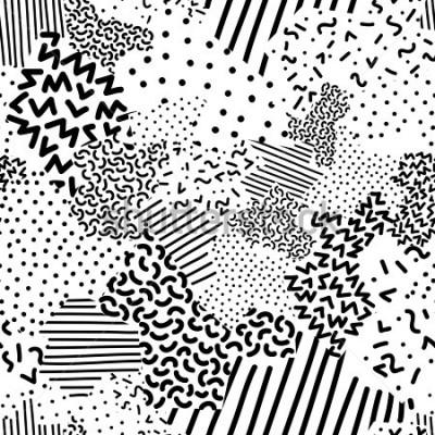 Фотообои Seamless geometric pattern in memphis style