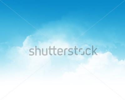 Фотообои Cloudy blue sky abstract background