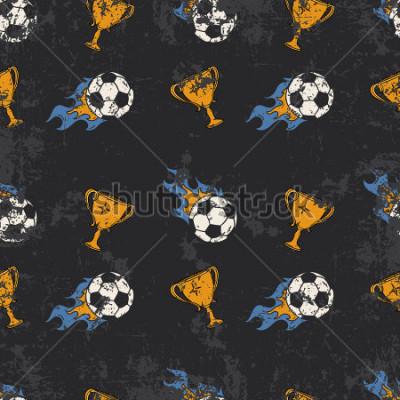 Фотообои Football pattern