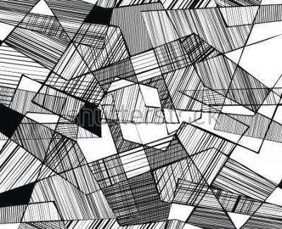 Фотообои vector abstract geometric shapes with linear fill - 3