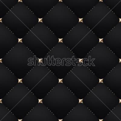 Фотообои Seamless luxury dark black pattern and background. Vector Illustration