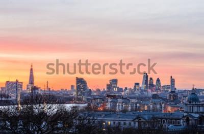 Фотообои Лондонский горизонт на закате, Англия, Великобритания