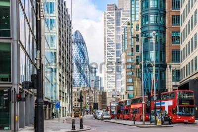Фотообои Вид на Лондонский Сити вокруг станции Ливерпуль Стрит