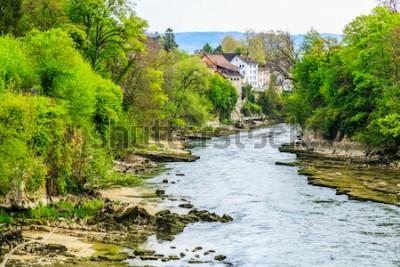 Фотообои Река Ааре в городе Бругг в Швейцарии