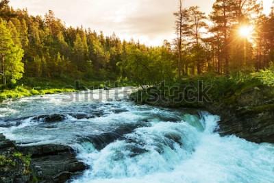 Фотообои Река в Норвегии