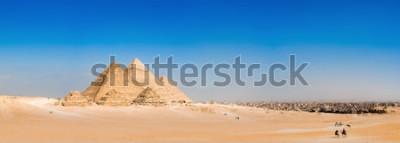 Фотообои Панорама местности с великими пирамидами Гизы, Египет