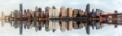 Фотообои Широкоугольная панорама Нью-Йорка