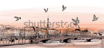 Фотообои Вид на Париж из