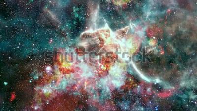 Фотообои Взрыв сверхновой. Яркая звездная туманность. Далекая галактика. Новогодний фейерверк. Абстрактное изображение. Элементы этого изображения предоставлены НАСА.
