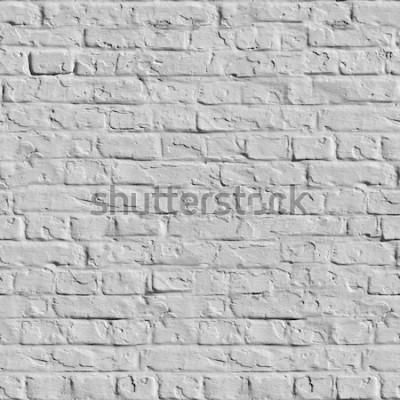 Фотообои Старая белая кирпичная стена. Бесшовная текстура