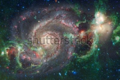 Фотообои Космическое искусство. Туманности, галактики и яркие звезды в прекрасной композиции. Элементы этого изображения, представленные НАСА