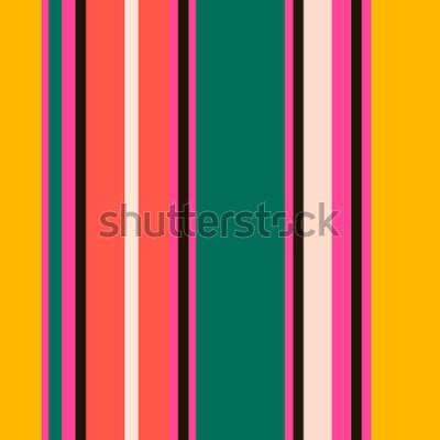 Фотообои Ретро Яркие красочные бесшовные модели полосы. Абстрактный фон вектор. Стильные цвета.