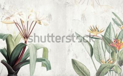 Фотообои Амазонка зеленые тропические листья обои