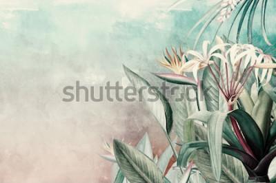 Фотообои Amazon Green Tropical Leaves Wallpaper