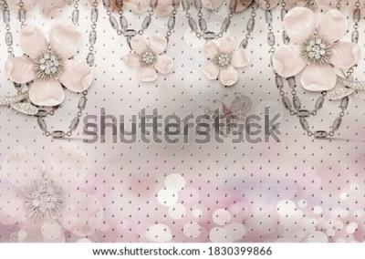Фотообои 3d flower wallpaper 3d background- Illustration