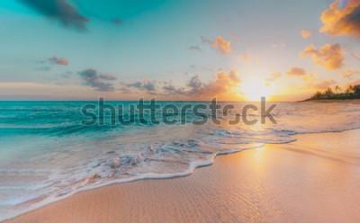 Фотообои sea beach blue sky sand sun daylight relaxation landscape viewpoint for design postcard and calendar in thailand