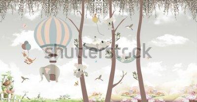 Фотообои animals on trees in the jungle