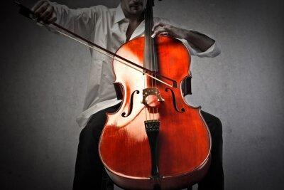 Фотообои Музыкант играет виолончель