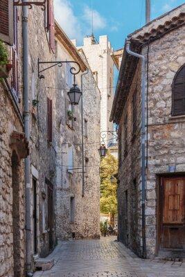 Фотообои Узкие мощеные улицы в старой деревне Ванс, Франция.