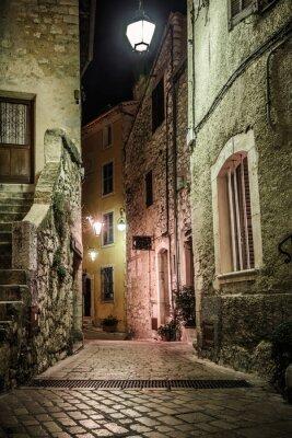 Фотообои Узкие мощеные улицы с цветами в старой деревне Tourrettes
