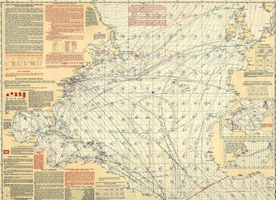 Фотообои Навигационный старинные карты