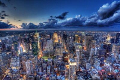 Фотообои Нью-Йорк ночью.