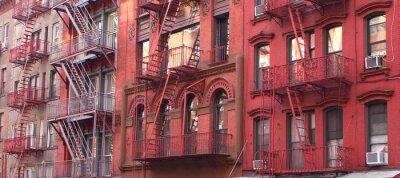 Фотообои Нью-Йорк / Пожарная лестница