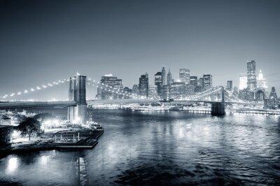 Фотообои Нью-Йорка Манхэттена в центре черно-белый