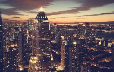 Фотообои Нью-Йорк горизонты в ночное время