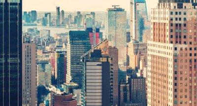 Фотообои Нью-Йорк Сити горизонт на закате