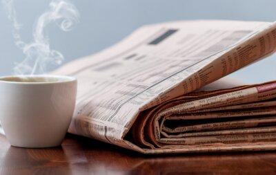 Фотообои Газета и кофе