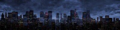 Фотообои Ночной город панорама