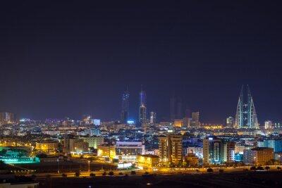 Фотообои Night skyline of Manama, the Capital city of Bahrain