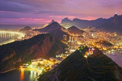 Фотообои Ночной вид на Рио-де-Жанейро, Бразилия
