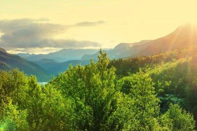 Фотообои Норвегия горы