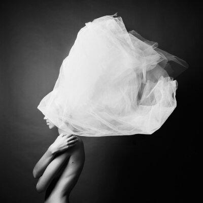 Фотообои Обнаженная женщина в элегантный чалме