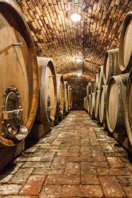 Фотообои Дубовые бочки в подземном винном погребе