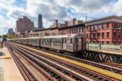 Фотообои oberirdische Метро в Манхэттене, Нью-Йорк