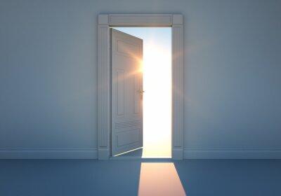 Фотообои Offene Tür мит Sonnenlicht