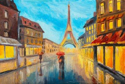 Фотообои Картина маслом Эйфелевой башни, Франция