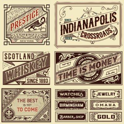 Фотообои Старые конструкции реклама - Урожай иллюстрация