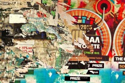 Фотообои Старый Billboard с рваной бумаги Плакаты фона и текстуры