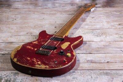 Фотообои старый красный электрическая гитара