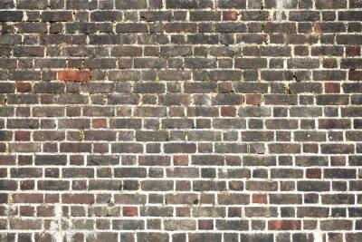 Фотообои Старый большой состаренный огорчен красной кирпичной стены фон
