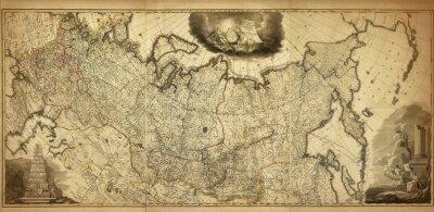 Фотообои Старая карта России, напечатанный в 1786 году